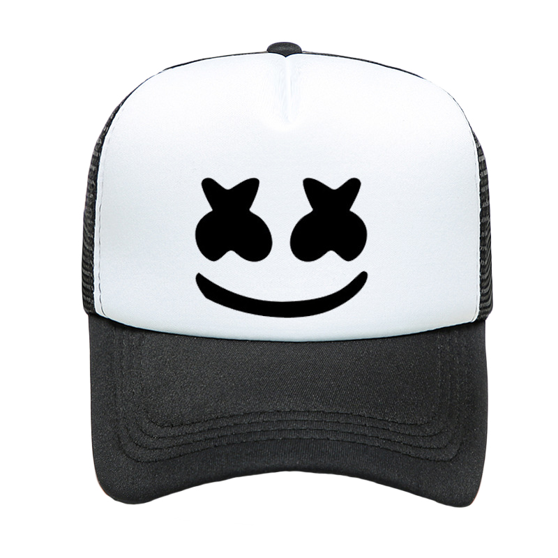 New Baseball Hat Marshmallow DJ Cap Women And Men Solid Color Fashion Visor Breathable Mesh Summer Adjustable Hip Hop Hat TG0202