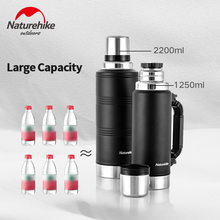 Water-Bottle Naturehike 2.2l Sport-Kettle 304-Stainless-Steel Camping Travel Outdoor