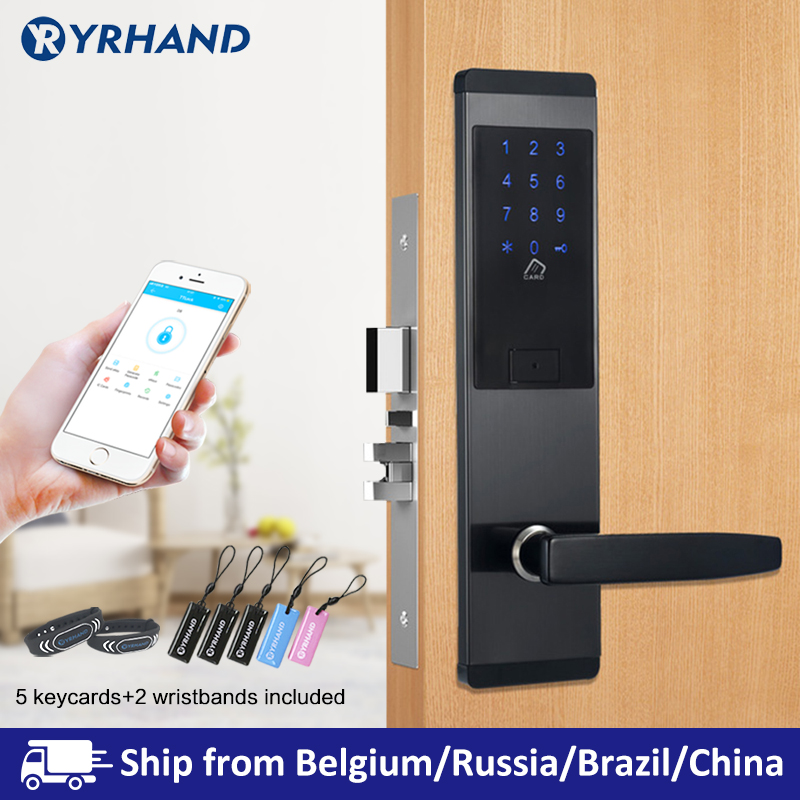 TTlock App Security Electronic Door Lock, APP WIFI Smart Touch Screen Lock,Digital Code Keypad Deadbolt For Home Hotel Apartment title=