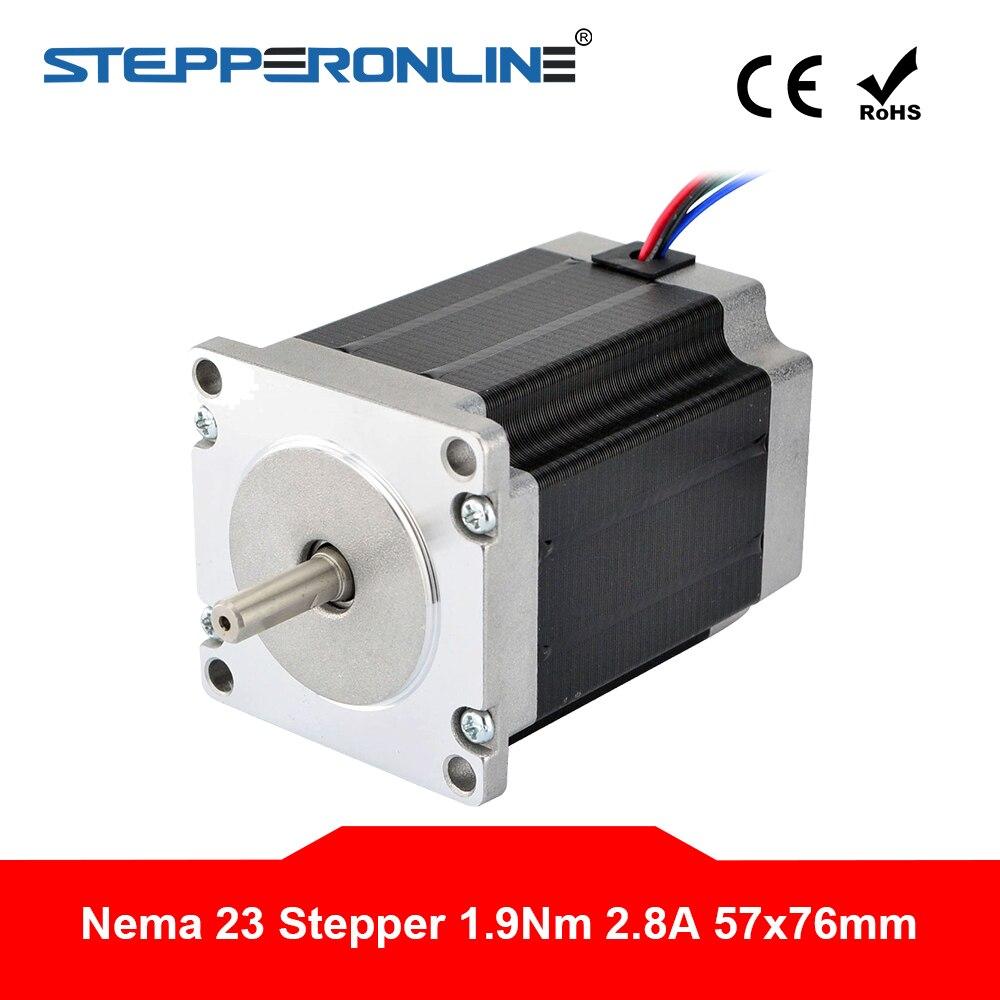 3Pcs Nema 23 Stepper Motor 270oz.in 4 Leads 3a 6.35mm Shaft,23hs8430 Longs Motor