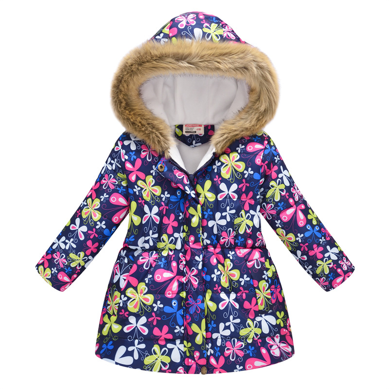 Kids Girls Jacket 2020 Autumn Winter Jacket For Girls Coat Baby Warm Hooded Outerwear Coat Girls Clothing Children Down Parkas