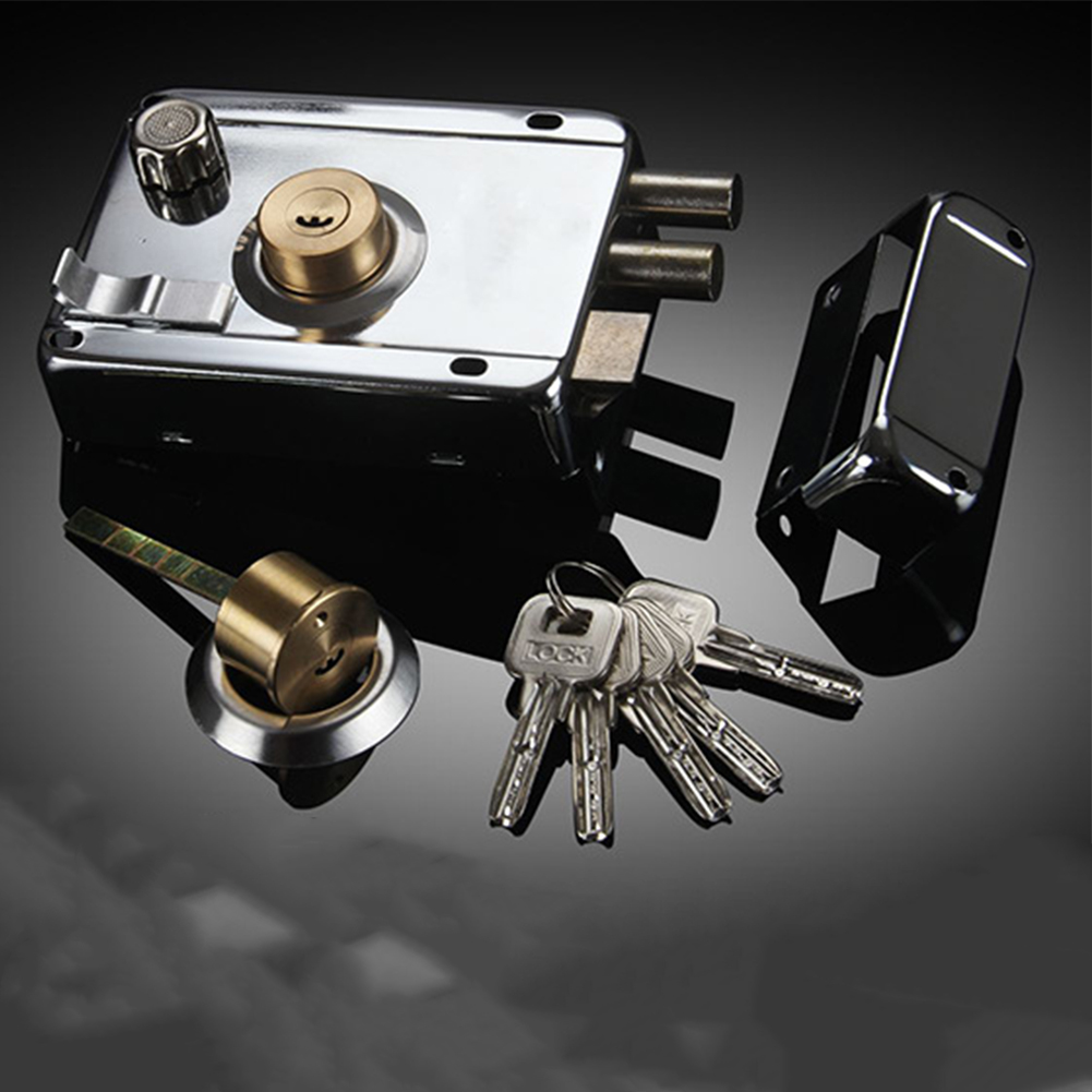 Door Lock Strong Deadbolt Home Security Universal Exterior Anti-theft Accessory Stainless Steel Multiple Insurance Smooth