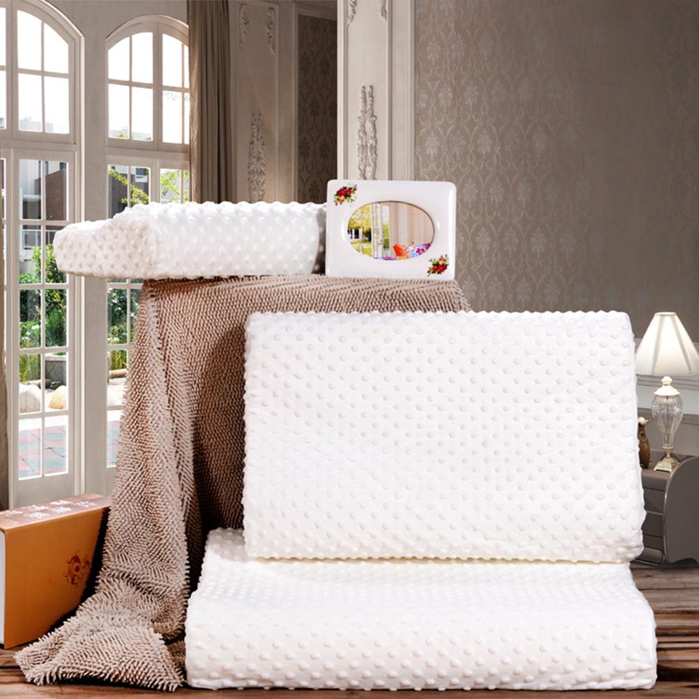 2017 New Orthopedic Neck Pillow Fiber Slow Rebound Memory Foam Pillow Cervical Health Care Orthopedic Latex Neck Foam Pillow
