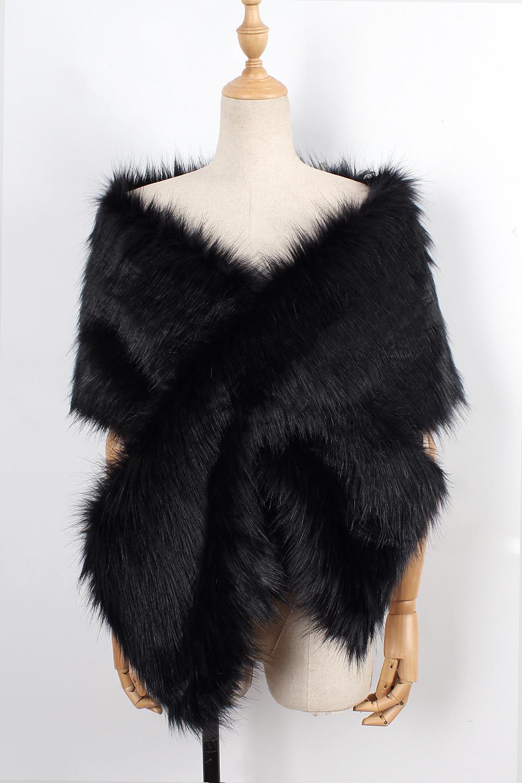 The autumn and winter new imitation fur big cape neck scarf multi-color joker scarf bride dress cross cape (19)