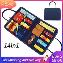 14In1 Montessori Toys Busy Board bag Early Educational Fine Motor Training Self-care Ability Children Game Sensory Education toy