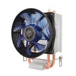 ALSEYE кулер для процессора 2 тепловой трубы cpu cooler 90мм вентилятора для Intel 775/1151/1155/AMD FM2/FM1/AM3/AM2 новый