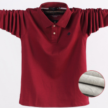 Men Clothing Polo-Shirt Long-Sleeve Winter New Warm Thick 5XL Casual Autumn Fleece Men's
