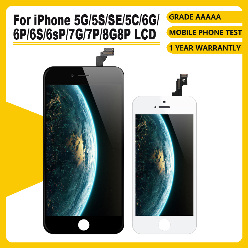 AAA+++ For iPhone 5s 5G SE 5C 6G 6S 7G 8G LCD With 3D Force Touch Screen Digitizer Assembly title=