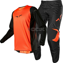 Suit Pants Jersey Dirt-Bike Downhill Orange Troy Fox Racing 180-Race MX Adult ATV Black