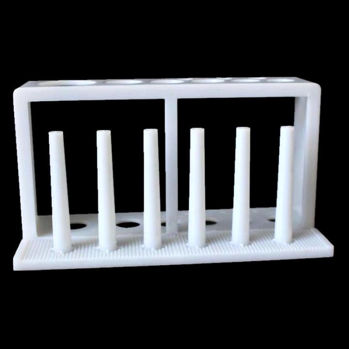 Pack of 1 Pillar Plastic Test Tube Rack for 16mm Tubes Yellow