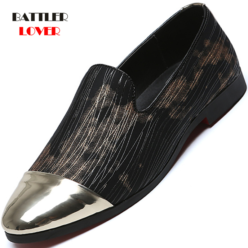 2019 Men Loafers Patent Leather Point toe Men