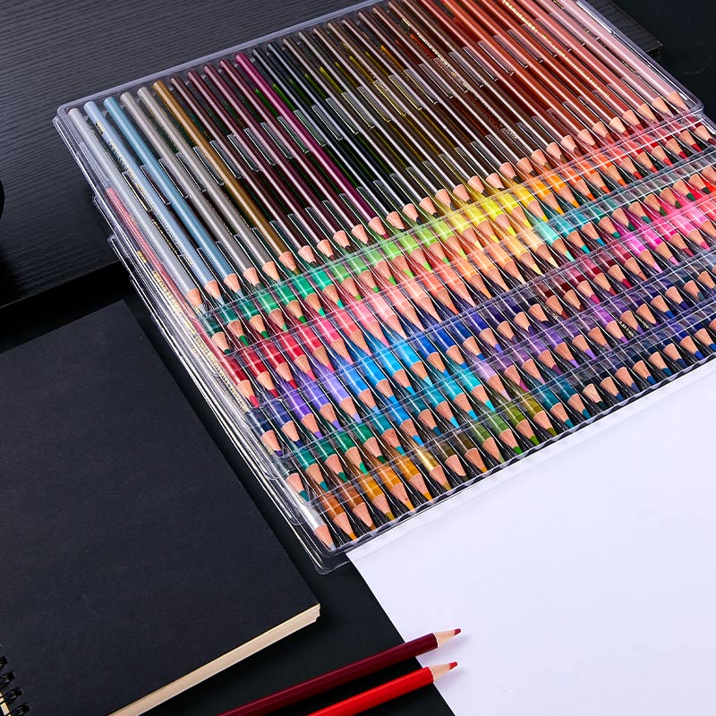 Multicolour 180 Colors Professional Watercolor Pencils Set Artist Painting Sketching Wood Color Pencil School Art Supplies