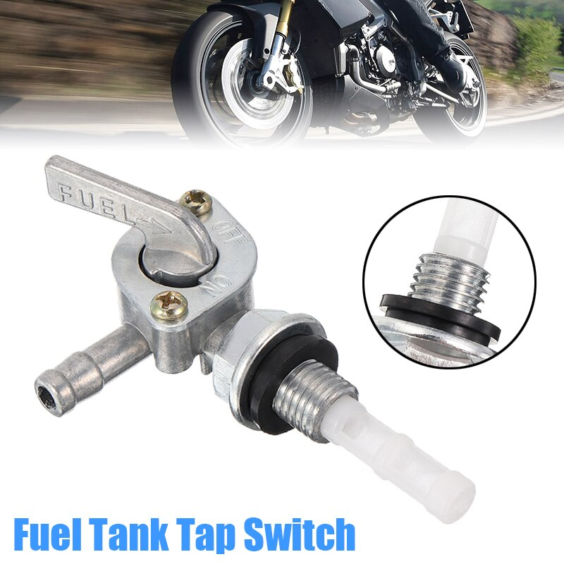 10mm Metal Motorcycle Fuel Tank Tap Switch Generator Pit Dirt Bike ATV Quad Fuel Petrol Tank Tap Petcock Switches 10mm Thread