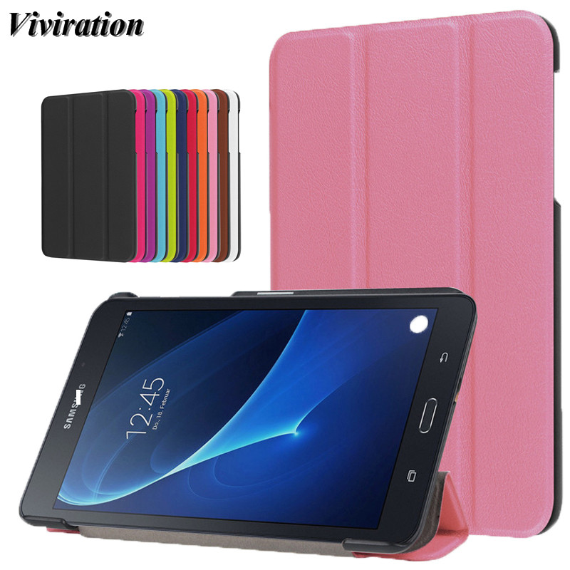 """Litchi Hard Cover For Samsung Galaxy Tab A A6 7.0"""" T285 T280 SM-T280  2016 Funda Capa Smart Tablet PC Case Women Girls Pink Skin"""