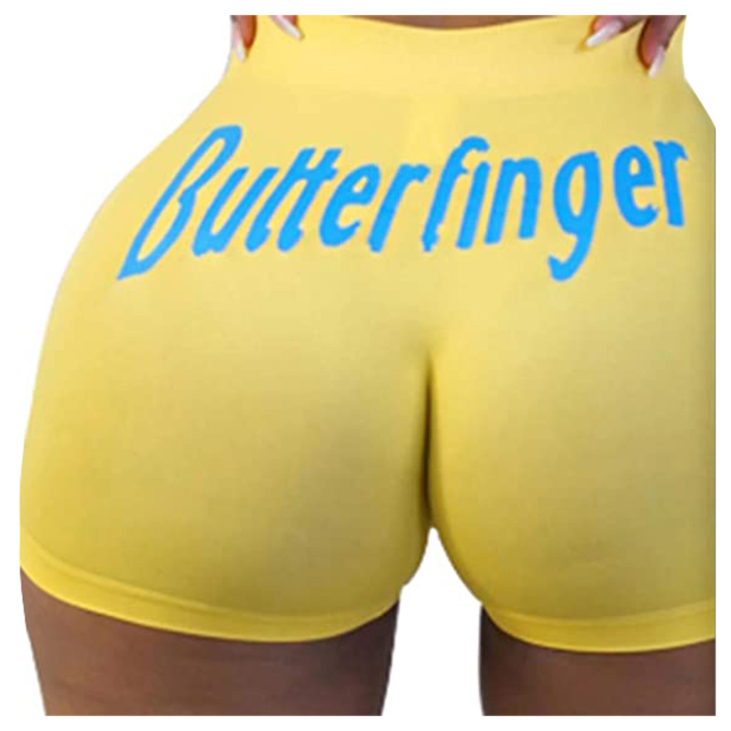 Clothing - Women's Breathable Candy Shorts Body Con Mini Shorts Sexy Club Fitness Booty Skinny Snack Shorts Bootielicious