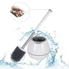 Toilet-Brush Tweezer-And-Holder-Set Commode-Cleaning Cleanhome Bathroom Silicone TPR