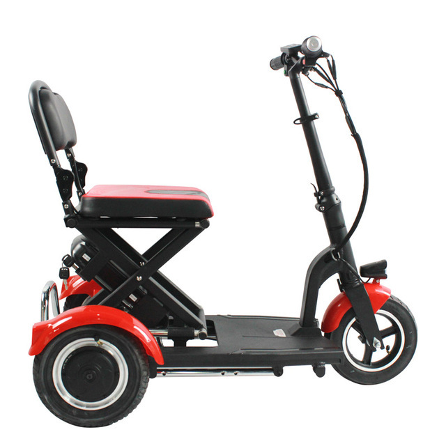 Electric Kick Scooter Adult Three Wheel Electric Scooters Tricycle 36V 300W Portable Folding Electric Elderly Scooter (9)