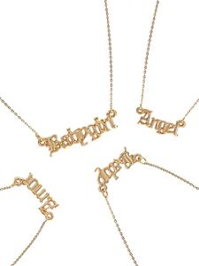 Name Pendants Letter Necklace Jewelry Gold Gift The Mom Babygirl High-Quality New-Fashion