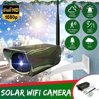 IP66 Intelligent Surveillance Camera Solar Power Wifi IP Camera Wireless Outdoor Indoor Waterproof HD 1080P 8LED Night Vision