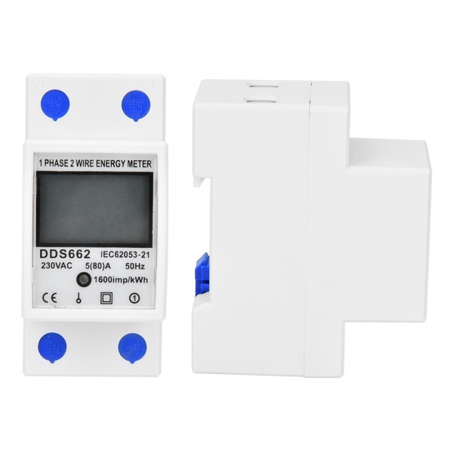 Dds662 Digital Energy Meter Good Reliability Lcd Display Single Phase Din Rail 230vac 5 80 A 50hz Energy Meters Aliexpress