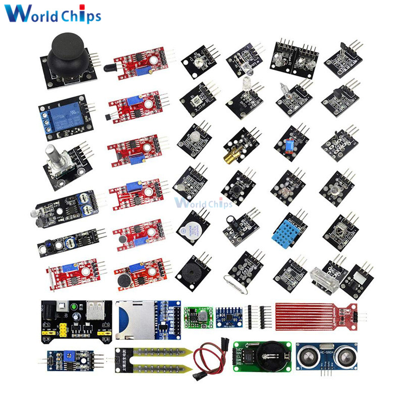 1set 37 in 1 Sensor Module Kit Set for Raspberry Pi /& Arduino/& MCU Education