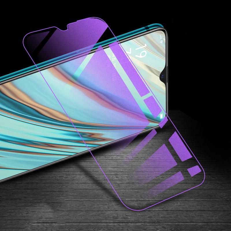 LGYD for 25 PCS AG Matte Anti Blue Light Full Cover Tempered Glass for Oppo A7