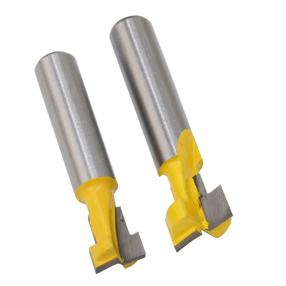 2 piezas 8 mm v/ástago ranurado herramienta de corte con rodamiento de bolas fresa extralarga recta.