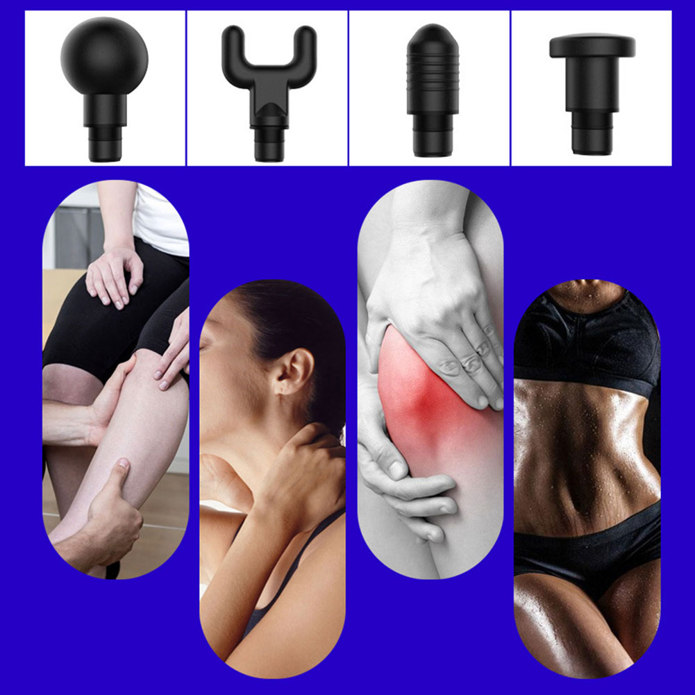 Electric Muscle Massager Electric Therapy Body LED Muscle Massage Guns Body Relaxing Relief Massage Machine 4 Heads EU/US/GB/AU