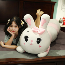 Soft Bunny Pillows Plush-Toy Caterpillar-Shaped Stuffed Rabbit Sleep Lovers Kawaii Dolls