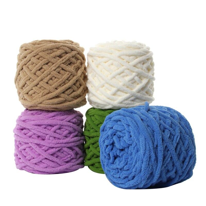 100g Knitting Chenille Warm Wool Yarn Super Soft Wool Roving Crocheting DIY