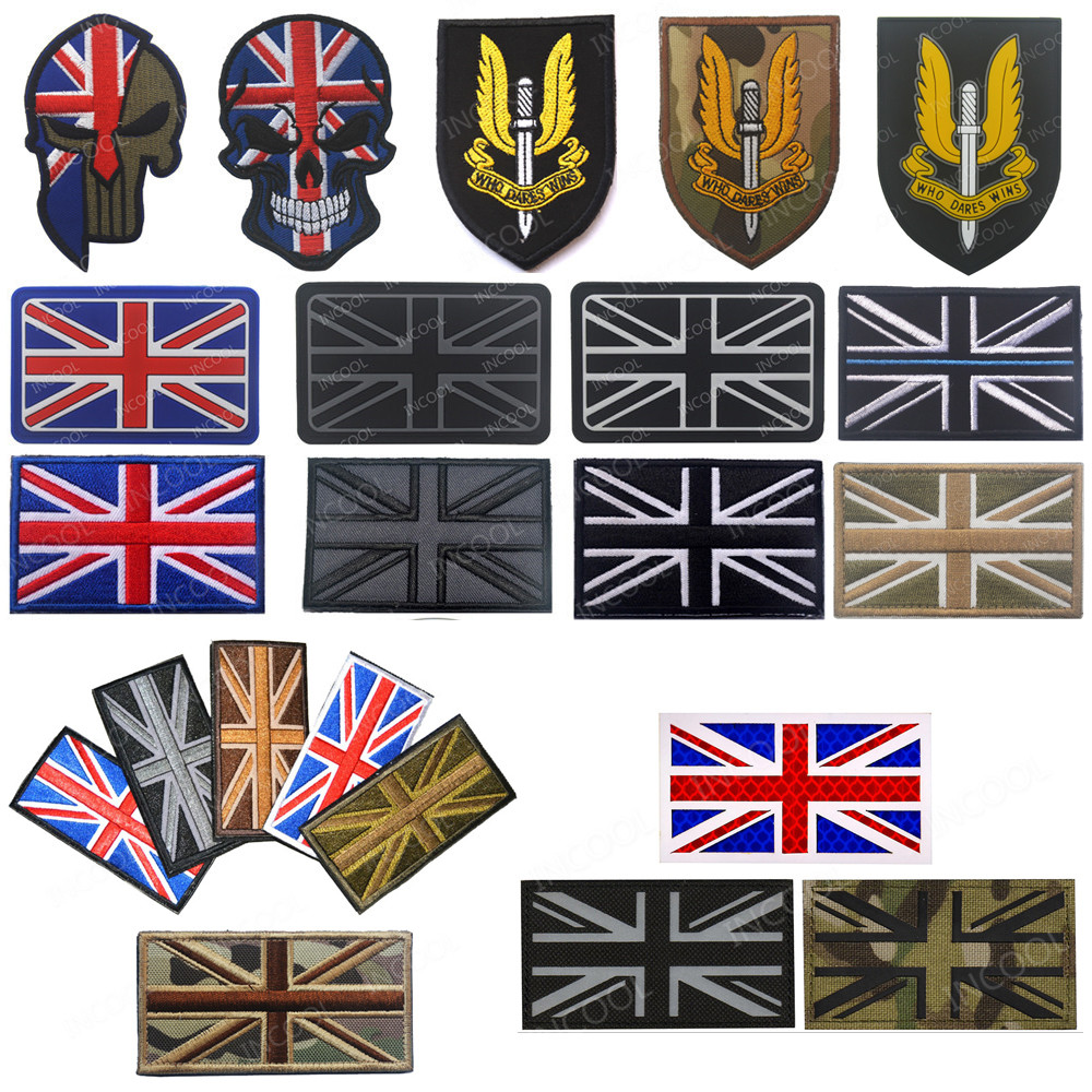Great Britain Jersey Flag EMBROIDERED PATCH 8x6cm Badge