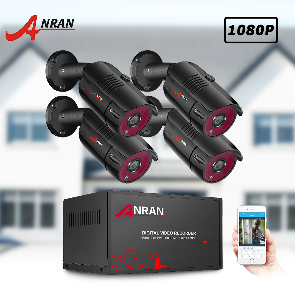 ANRAN CCTV 2MP Video Surveillance Kit 1080P Security Camera System AHD CCTV System Waterproof Night Vision Outdoor H.265 HDMI