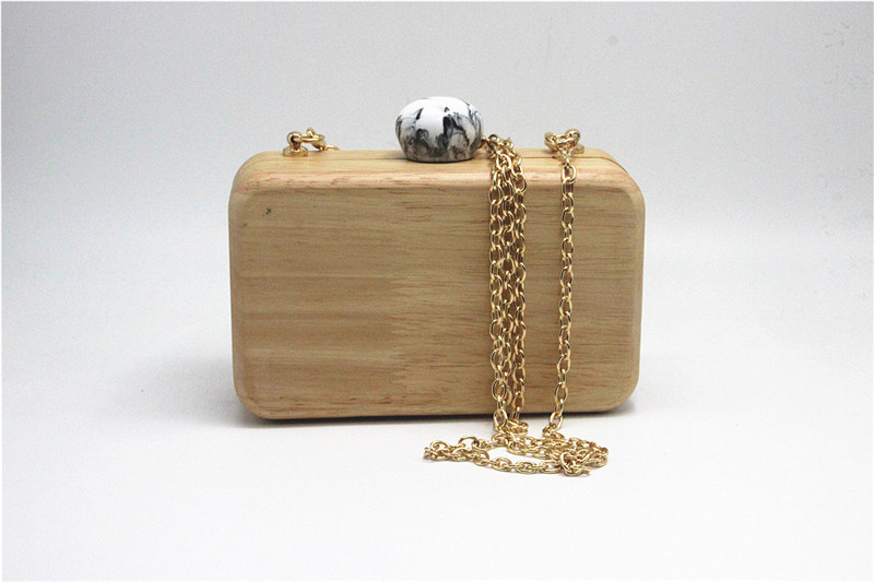 2020 wooden evening clutch bags wedding banquet wallets with chain dinenr party chain shoulder bags drop shipping MN1658