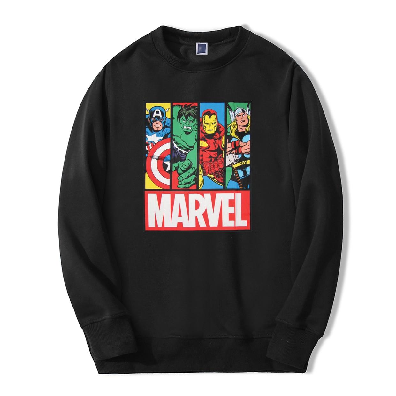 Super Hero Sweatshirts Hoodies Men Brand Avengers Marvel Comic Casual Streetwear 2019 New Fleece Pollover Winter Warm Tracksuit