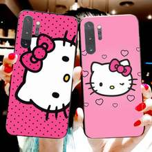 Милый чехол для телефона Kawaii Hello Kitty, чехол для Samsung Note 7 8 9 10 Plus lite Galaxy J7 J8 J6 Plus 2018 Prime(Китай)
