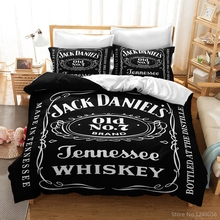 Bedding-Set Pillowcases Comforter Jack Whiskey Bed-Linen Queen King Black Twin-Full 3d
