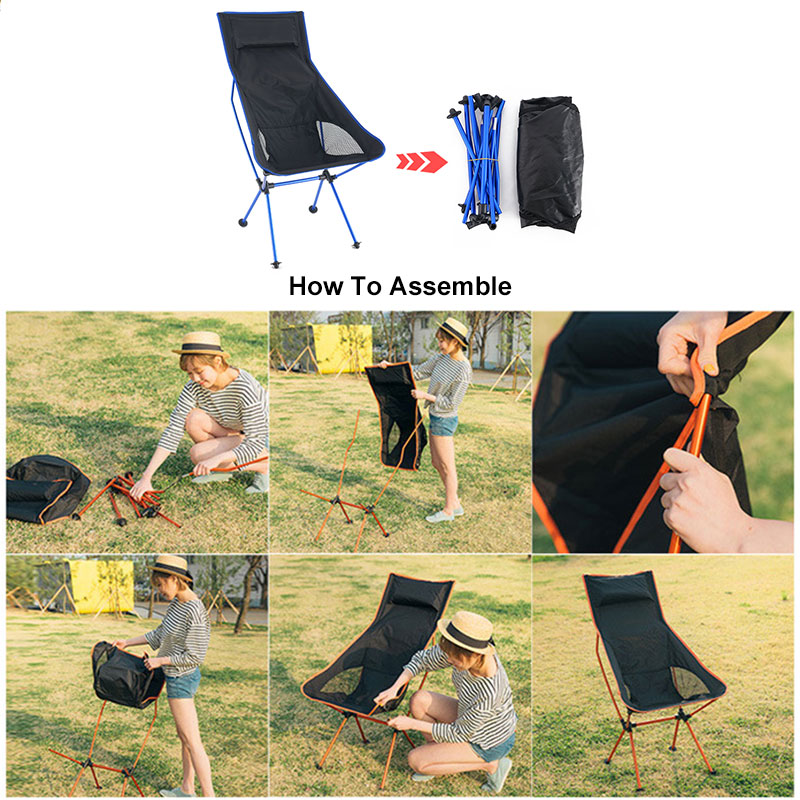 Ultralight Outdoor Portable Folding Chair Maximum Load Of 150kg Travel Fishing Camping Chair Portable Office Home Furniture 캠핑의자