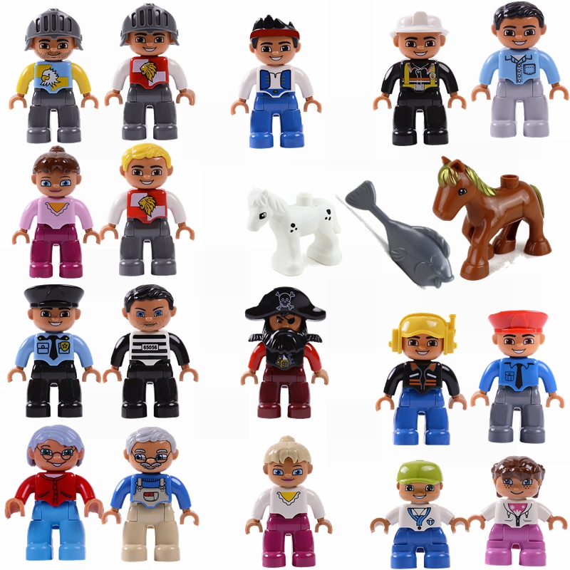 Duplo Toys & Hobbies Compatible City Block DIY Building Blocks Aunt prisoner grandparents Figures Kits Accessories Children gift