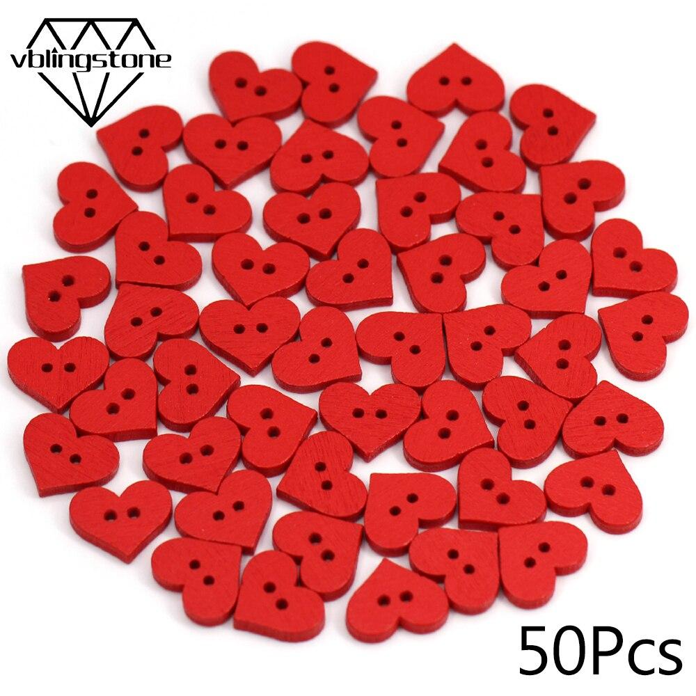 20 Vintage Amor Corazón en forma de botones madera sin agujeros 15 X 12mm