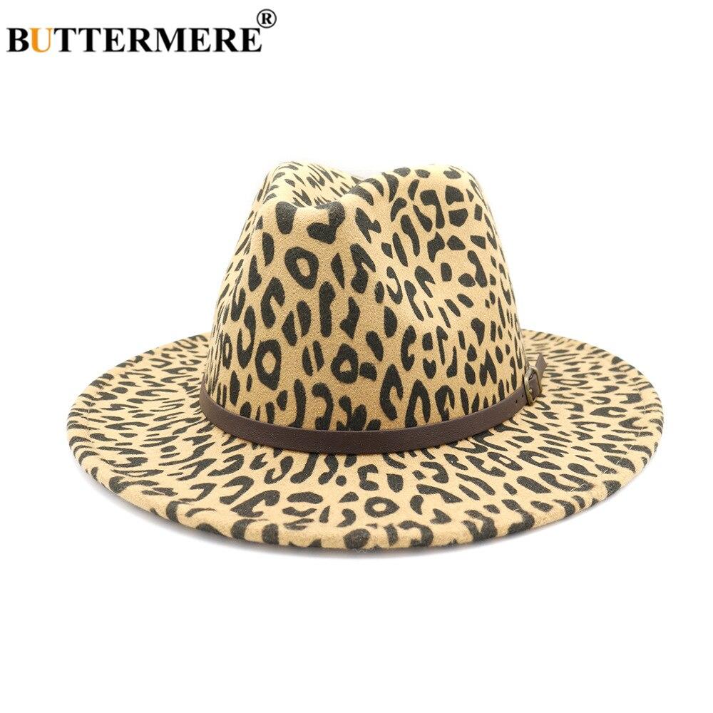 Autumn Winter Women Wool Felt Fedora Hats Ladies Wide Brim Trilby Hat Sun Hat with Belt Chain