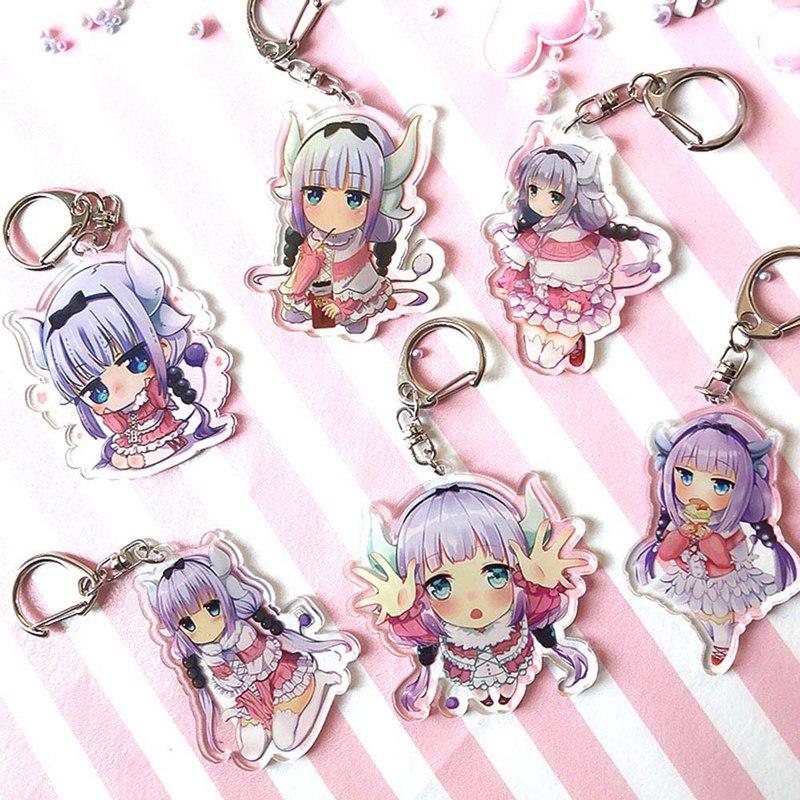 Anime Kobayashi san Chi no Maid Dragon keychain for Bags Miss Kobayashi