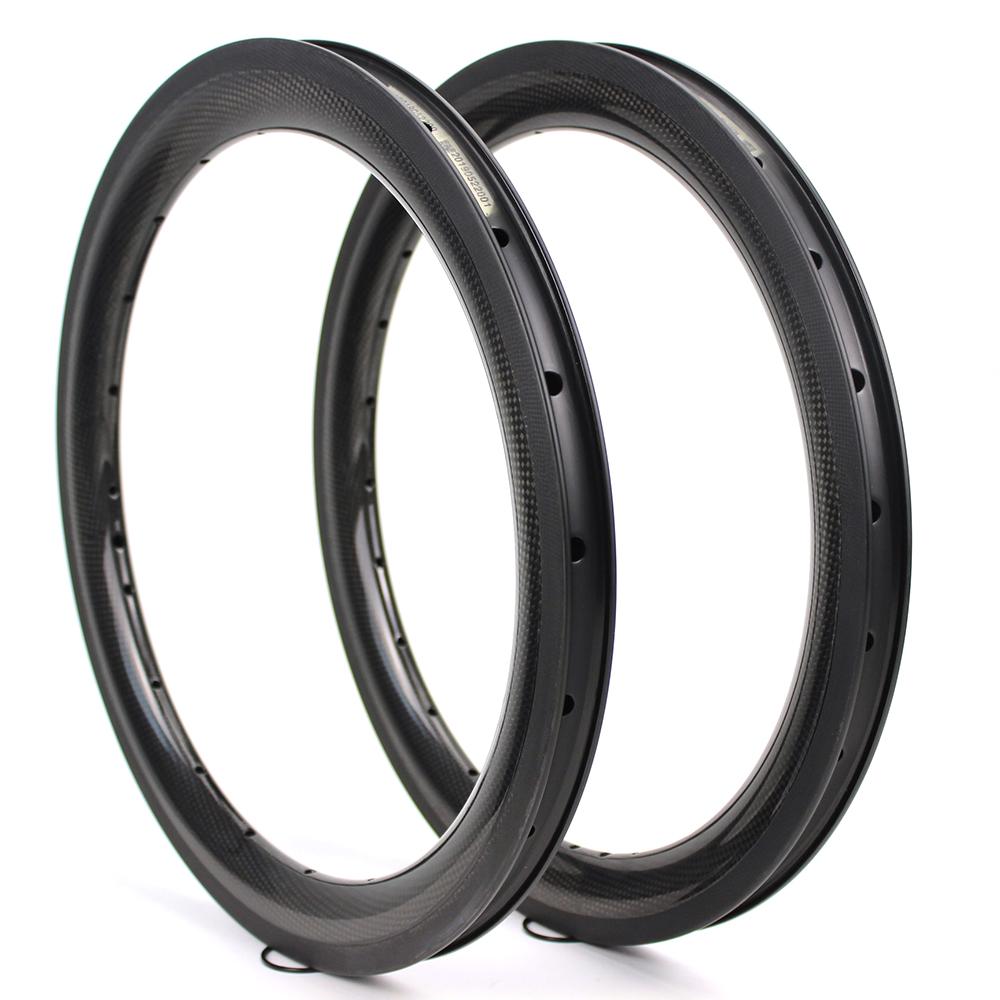 bicycle wheels 16 inch Folding Bike wheels 38mm depth clincher customized BMX carbon rims