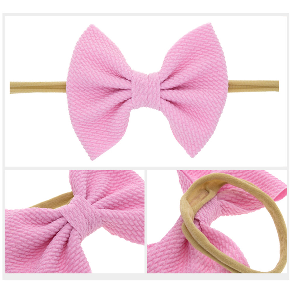 baby solid color Bowknot Headband Kids Girls Hair Accessories New Fashion Children
