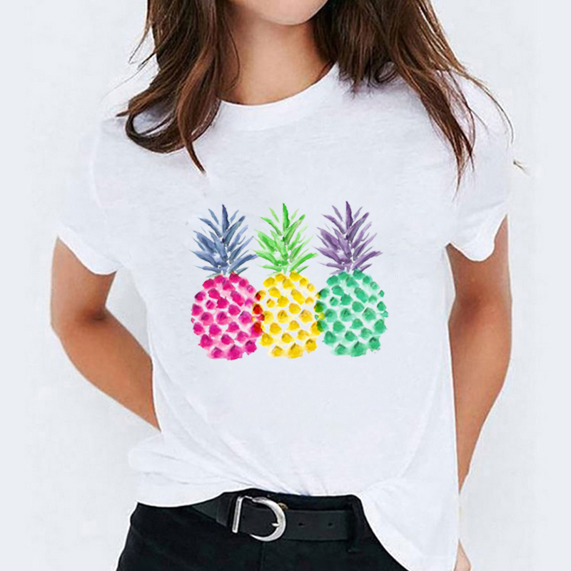 BANGELY Vacay Mode T Shirt Women Pineapple Graphic Tee Funny Letters Short Sleeve Vacation Shirt Casual Beach Tees Top