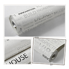 Non-Woven wallpaper Fitting-Room Home-Decoration-Supplies Letter English for 1/4.5/9.5m