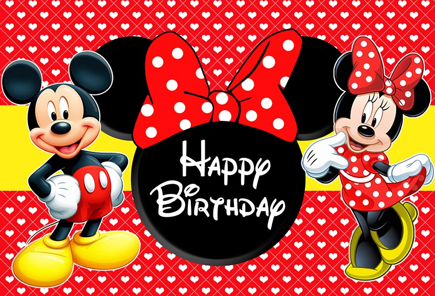 Personalized Minni Mouse Birthday T-Shirt Party Happy Birthday Minnie Mouse