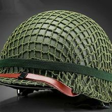 WW2 US ARMY M1 SOLDIER OUTDOOR TACTICAL HELMET NET GREEN COVER & CAT EYES STRAP REPRO