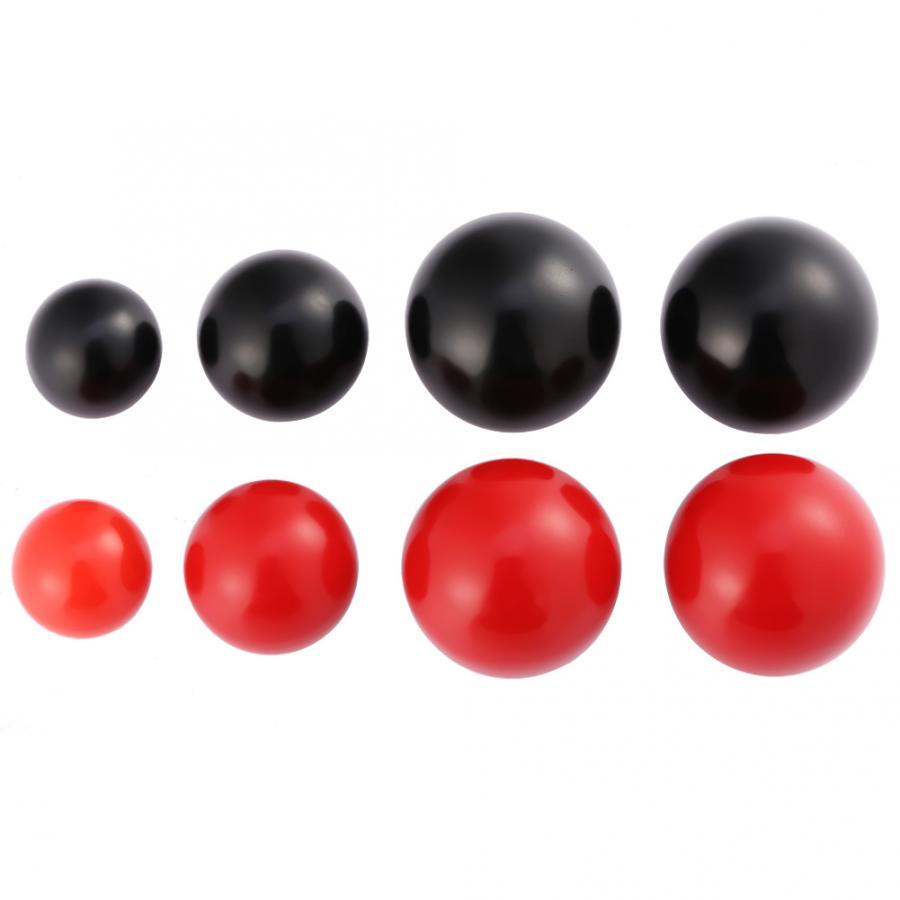 2 Pcs Lathe Tractor Machine Plastic Round Ball Knob Handle Black 25mm x 5mm