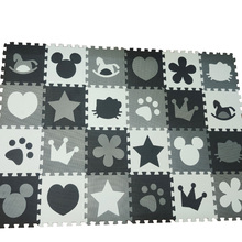 Play-Mat Jigsaws Tiles Puzzle Baby Foam Thick Kids 10mm Room-Game Floor-Grey White Black