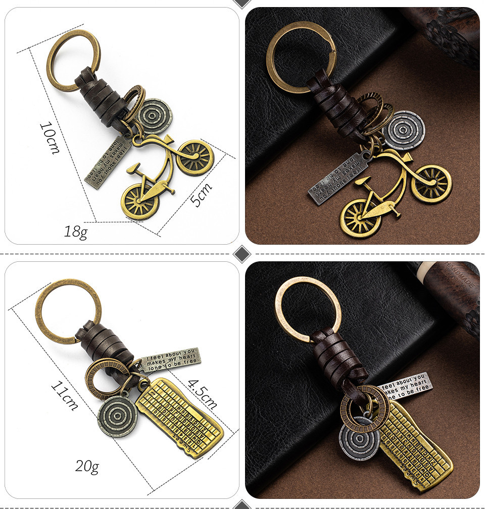 Fashion Car Key Chain Ring Lovers Couple Music Guitar Keyboard Gamepad Elephant Whistle Hat Tank Motorcycle Scooter for Key Tags Gifts (122)